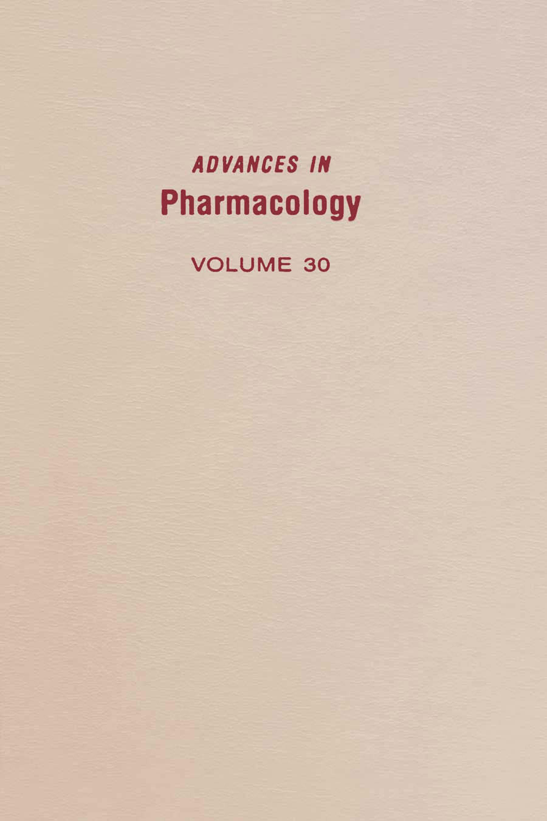 Advances in Pharmacology EB9780080581224