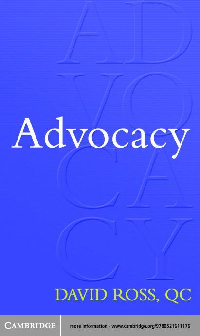 Advocacy EB9780511079337