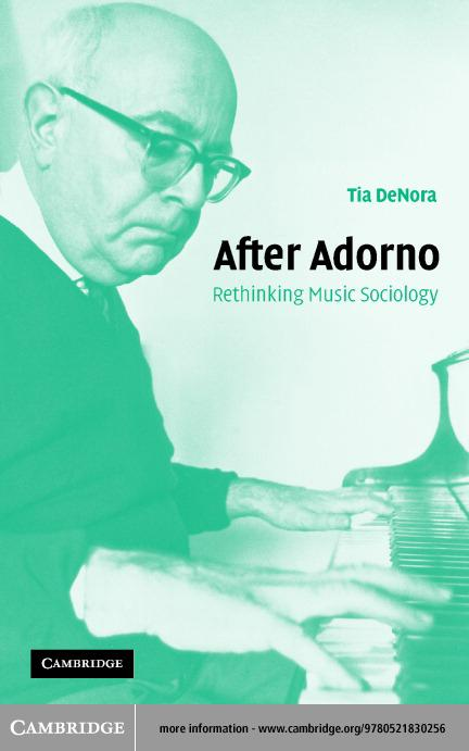 After Adorno EB9780511056567