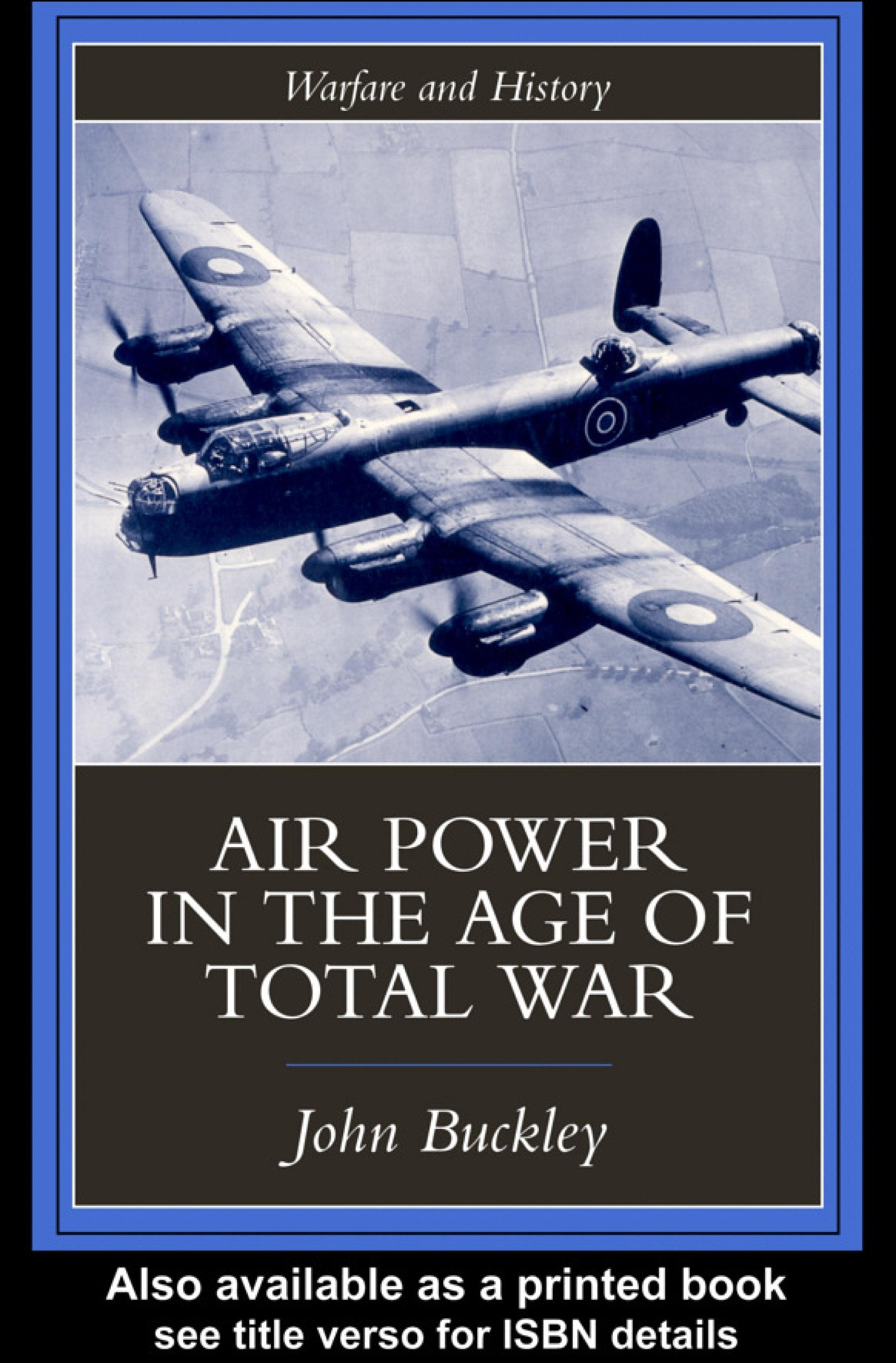Air Power in the Age of Total War EB9780203007228