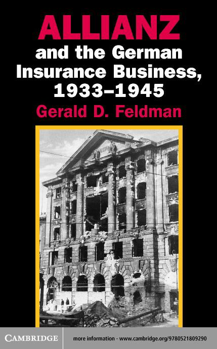 Allianz and the German Insurance Business, 1933-1945 EB9780511057724