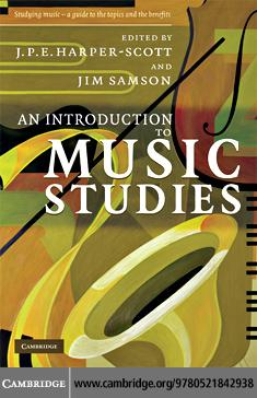 An Introduction to Music Studies EB9780511512360