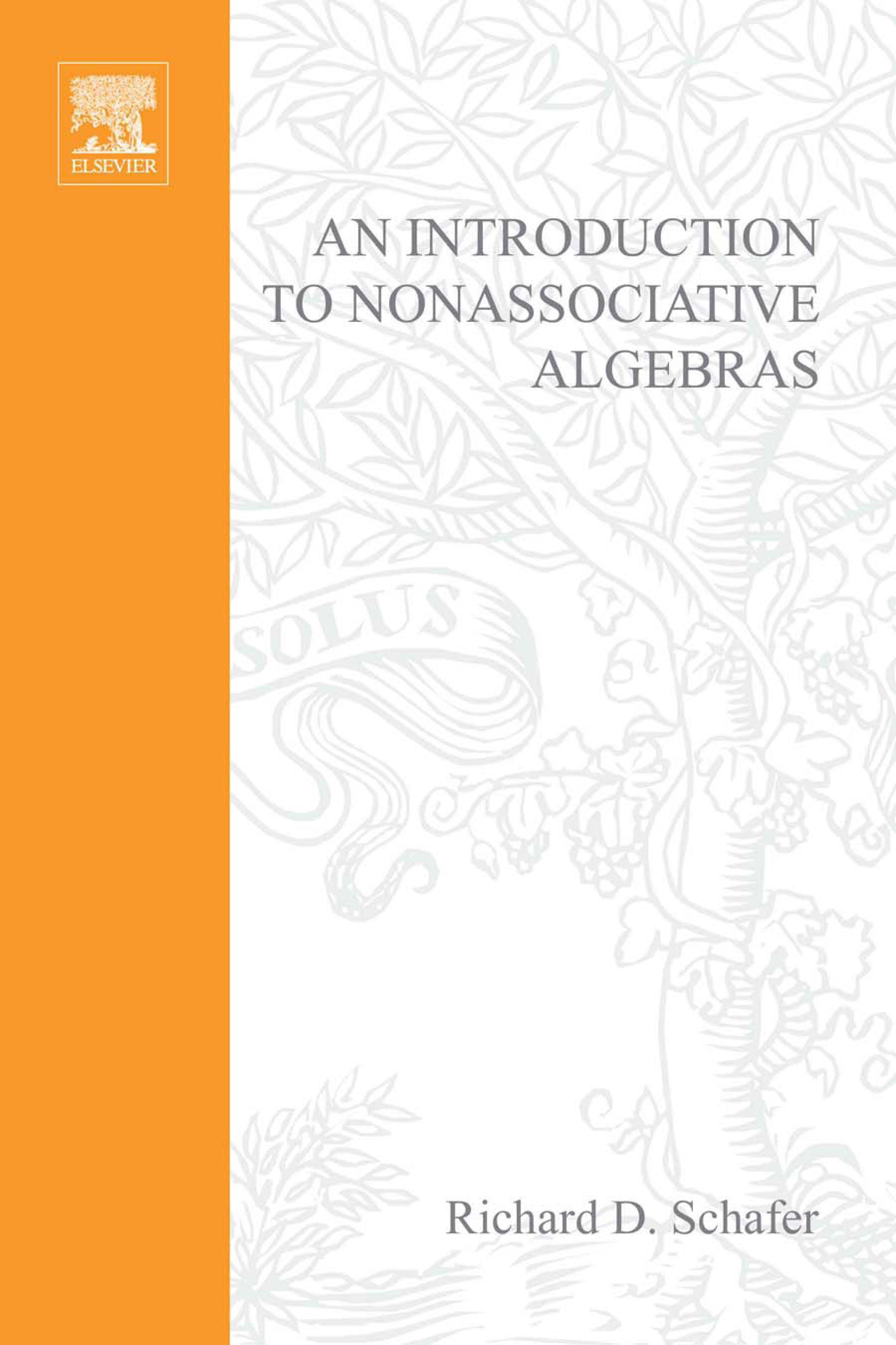An introduction to nonassociative algebras EB9780080873343