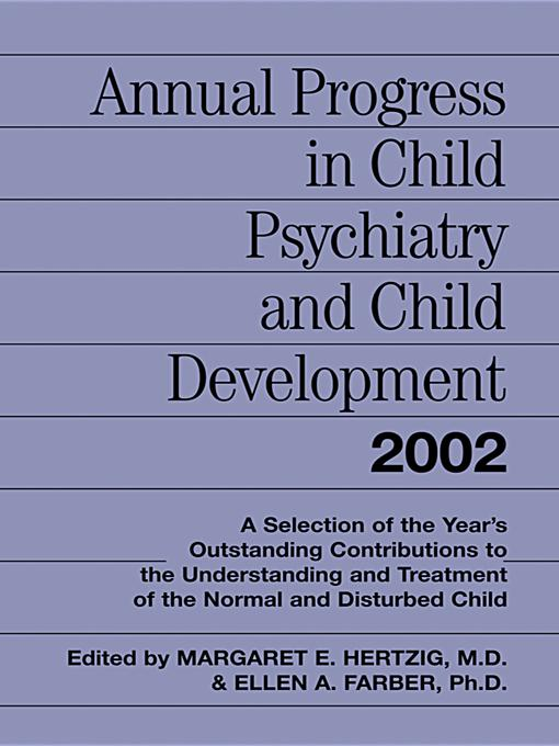 Annual Progress in Child Psychiatry and Child Development 2002 EB9780203955536
