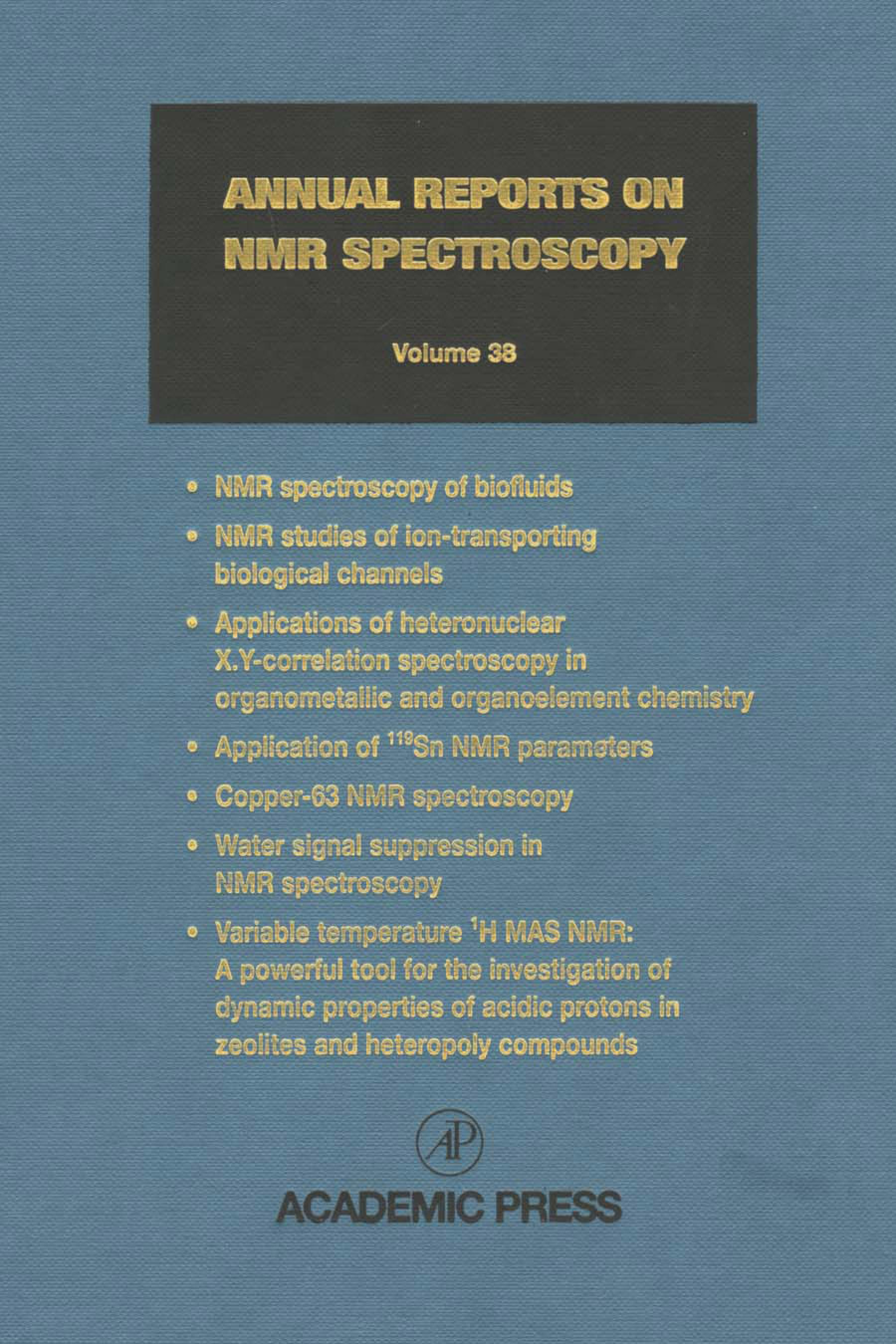 Annual Reports on NMR Spectroscopy EB9780080584195