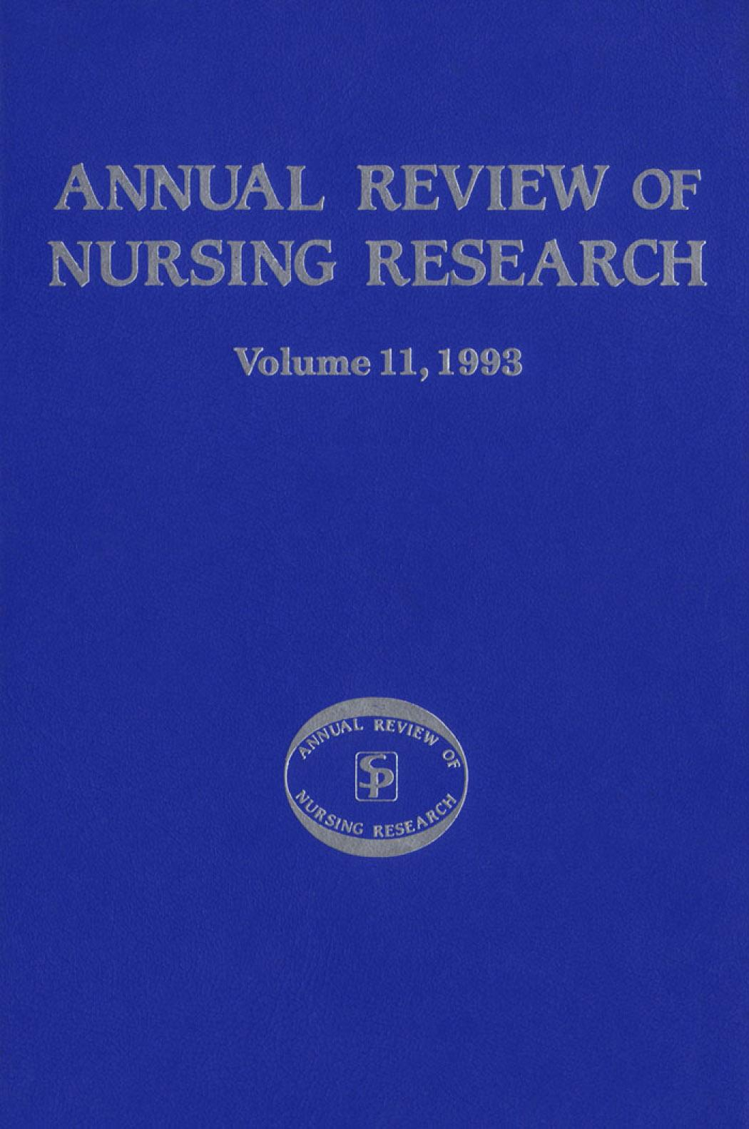Annual Review of Nursing Research Volume 11 EB9780826182241