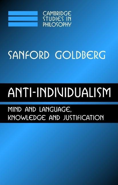 Anti-Individualism EB9780511373053