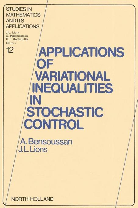 Applications of Variational Inequalities in Stochastic Control