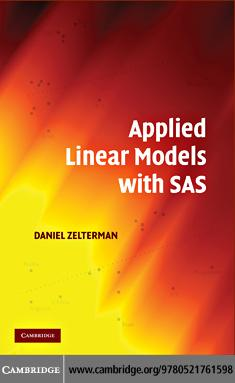 Applied Linear Models with SAS EB9780511771095