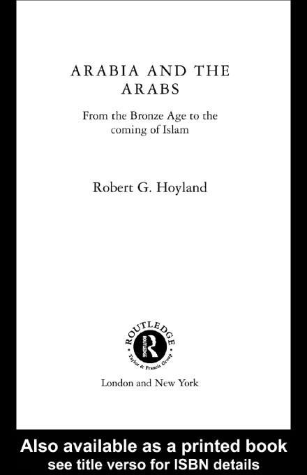Arabia and the Arabs EB9780203455685