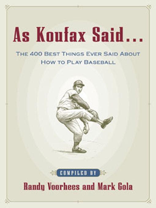 As Koufax Said...