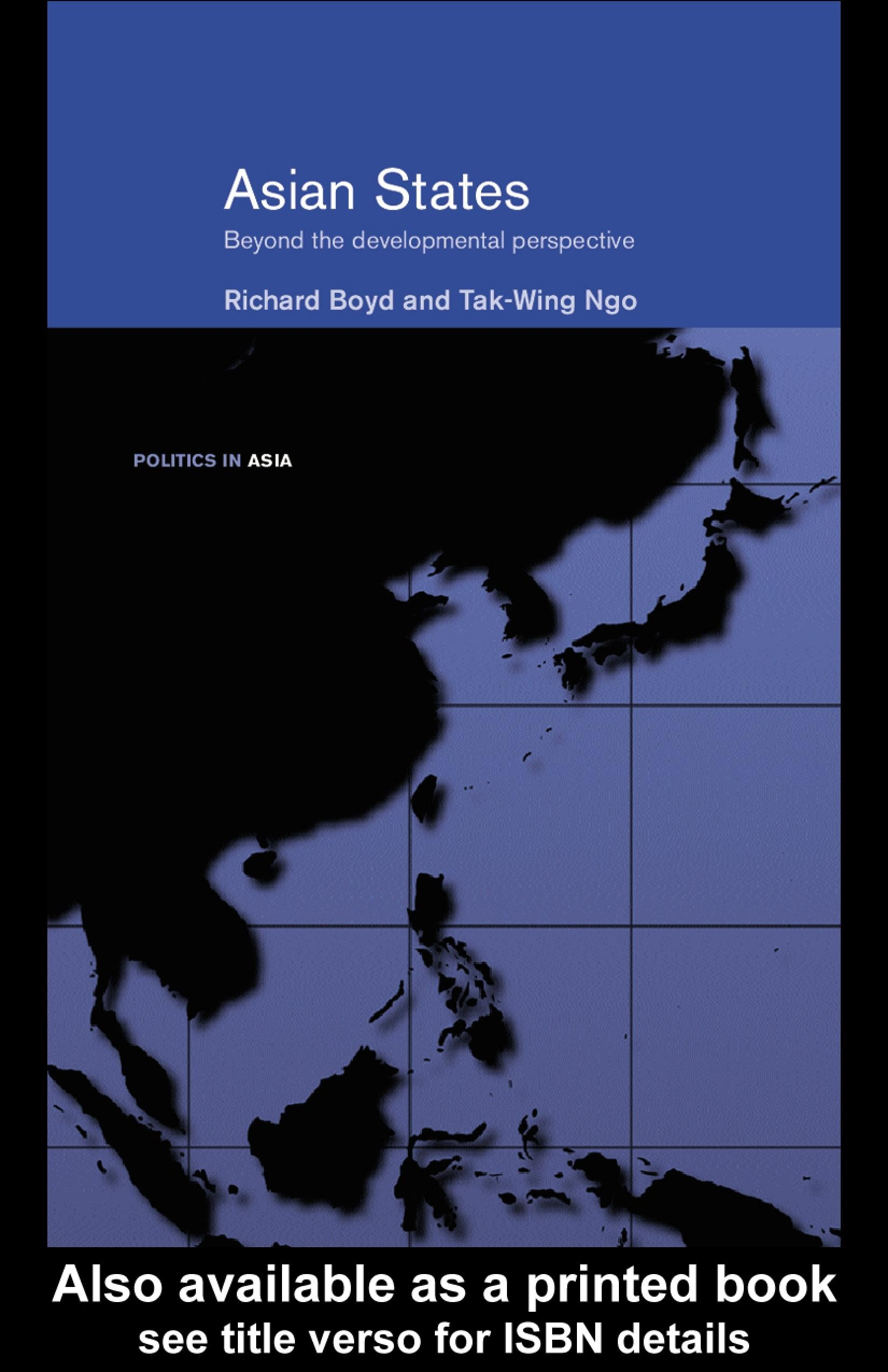 Asian States: Beyond the Developmental Perspective EB9780203308233