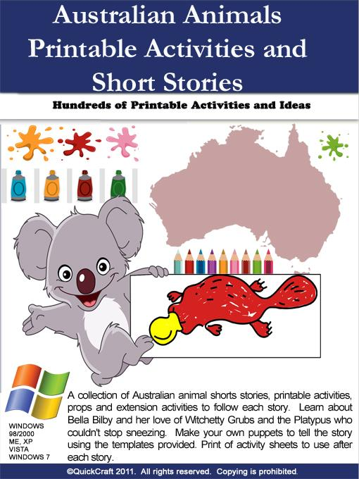 Australian Animals Short Stories and Printable Extension Activities EB9780980605211
