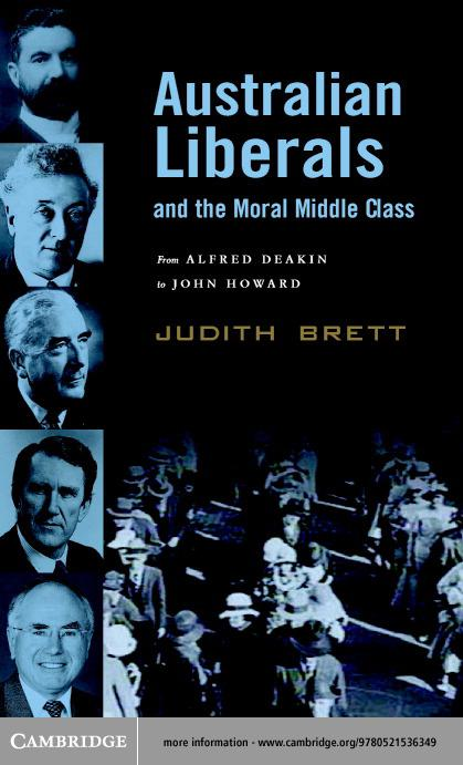 Australian Liberals and the Moral Middle Class EB9780511059285