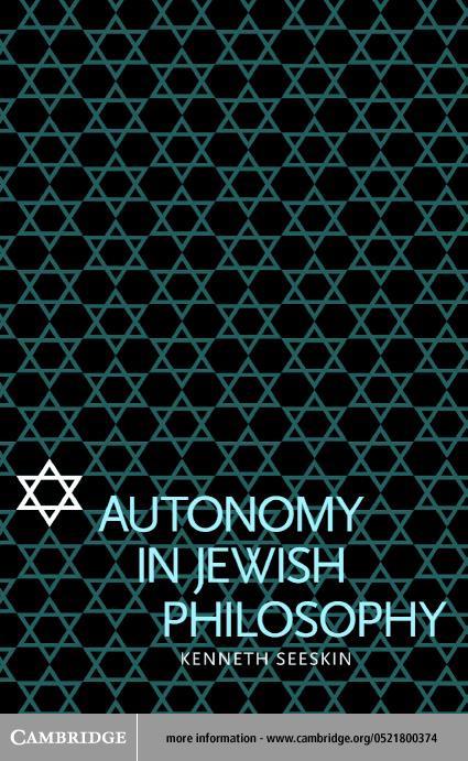 Autonomy in Jewish Philosophy EB9780511032189