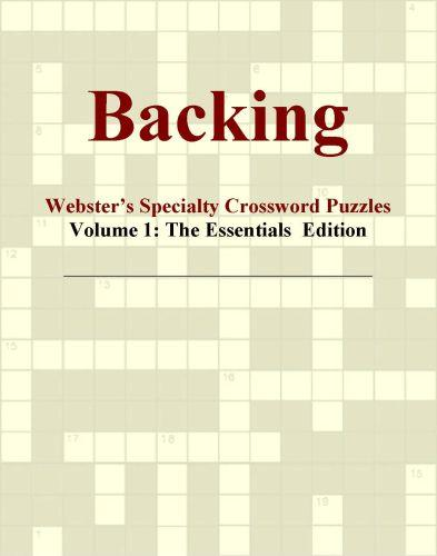 Backing - Webster's Specialty Crossword Puzzles, Volume 1: The Essentials  Edition EB9780546818178