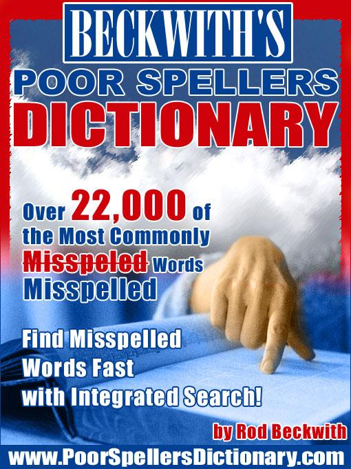 Beckwith's Poor Spellers Dictionary EB9780974282718