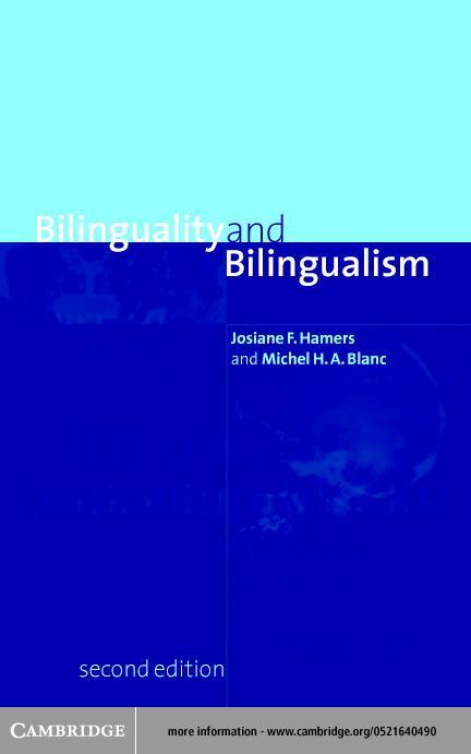 Bilinguality and Bilingualism EB9780511036156