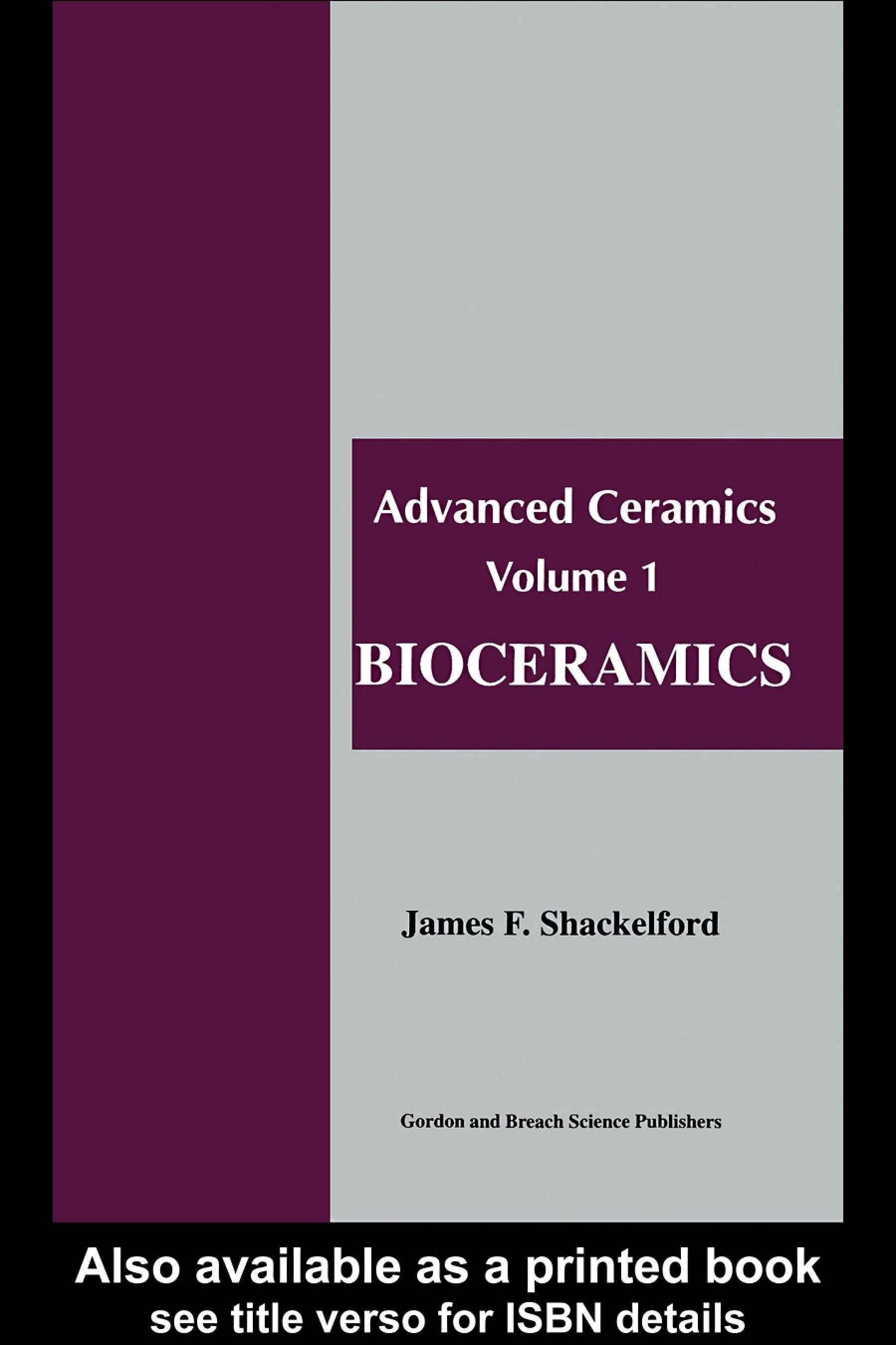 Bioceramics EB9780203304136