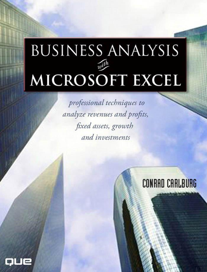 Business Analysis with Microsoft? Excel?, Third Edition EB9780768675030