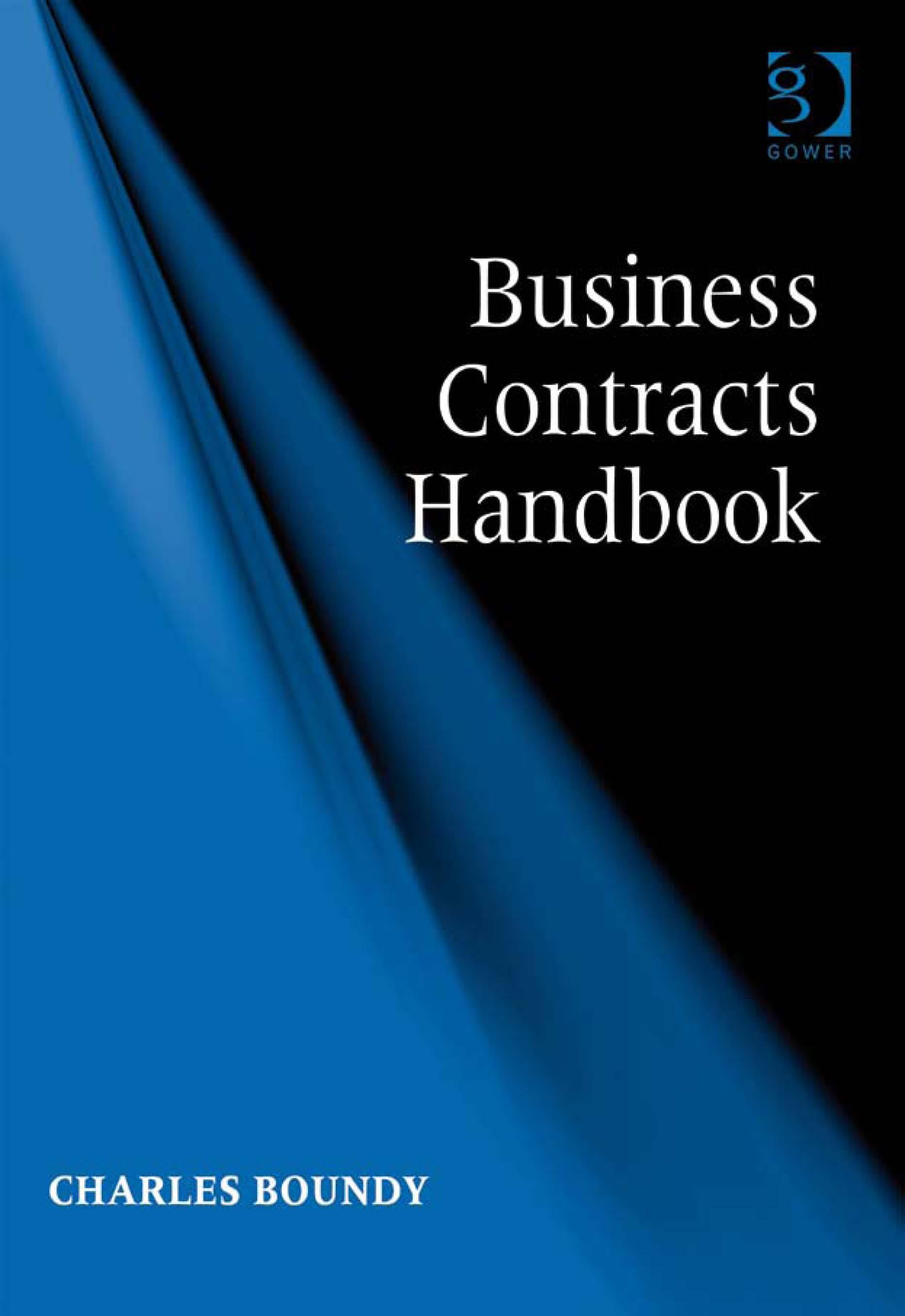 Business Contracts Handbook EB9780566092220