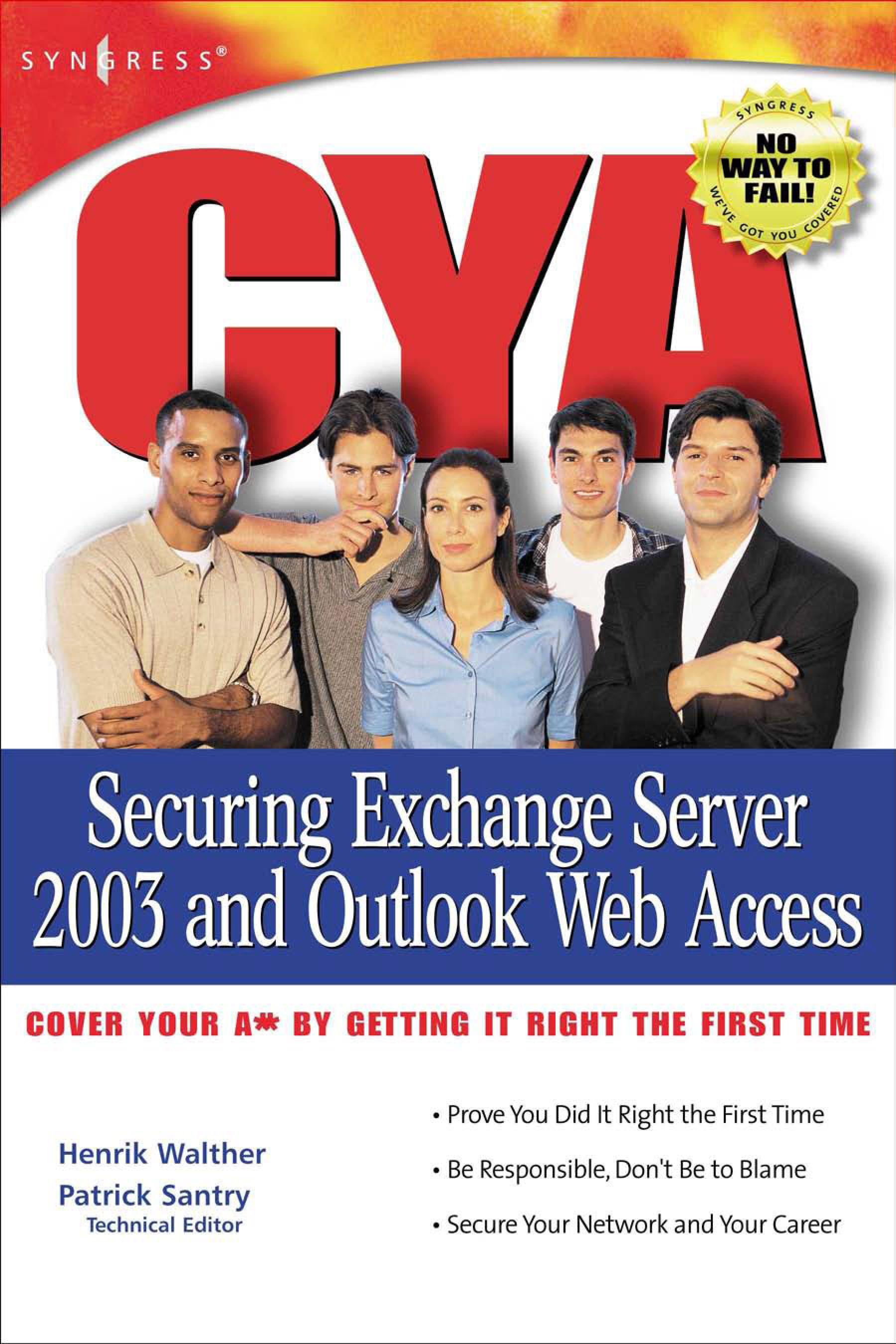 CYA Securing Exchange Server 2003 EB9780080476971