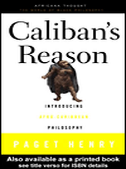 Caliban's Reason EB9780203900147