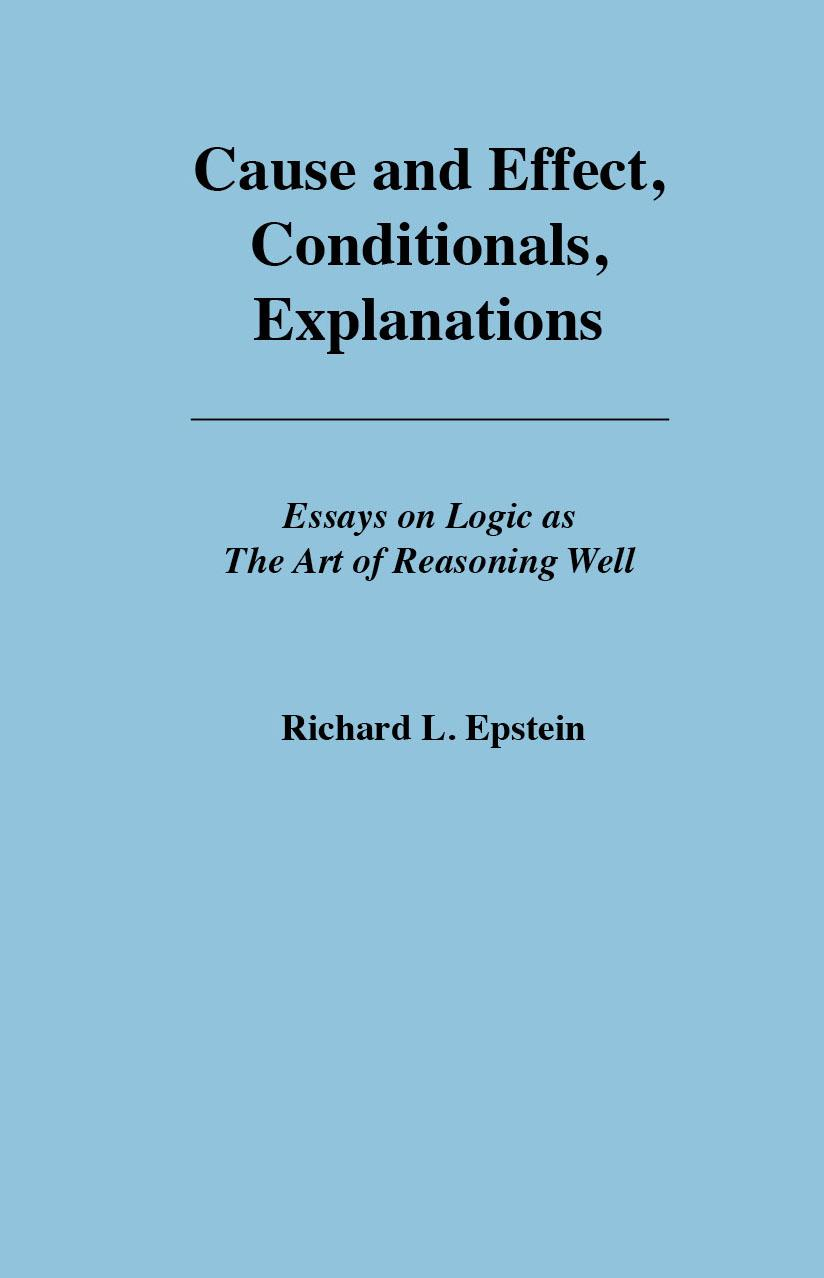 Cause and Effect, Conditionals, Explanations EB9780983452119