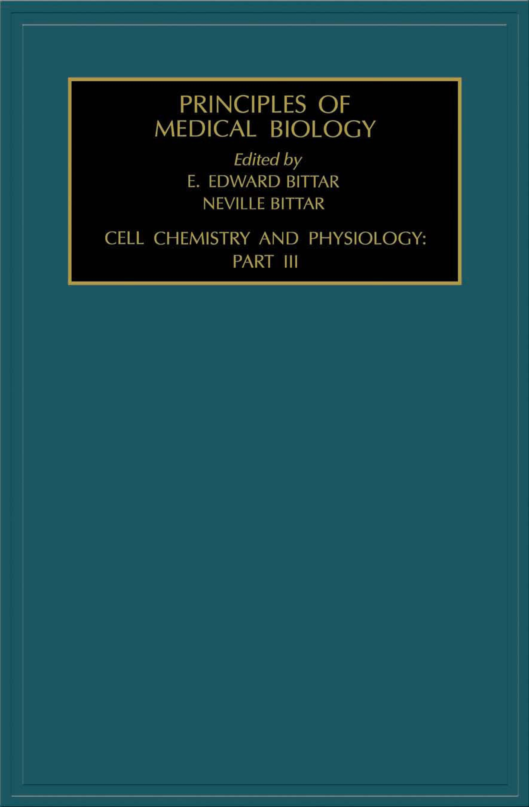 Cell Chemistry and Physiology: Part III: Part III EB9780080528731