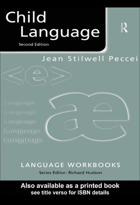 Child Language EB9780203202258