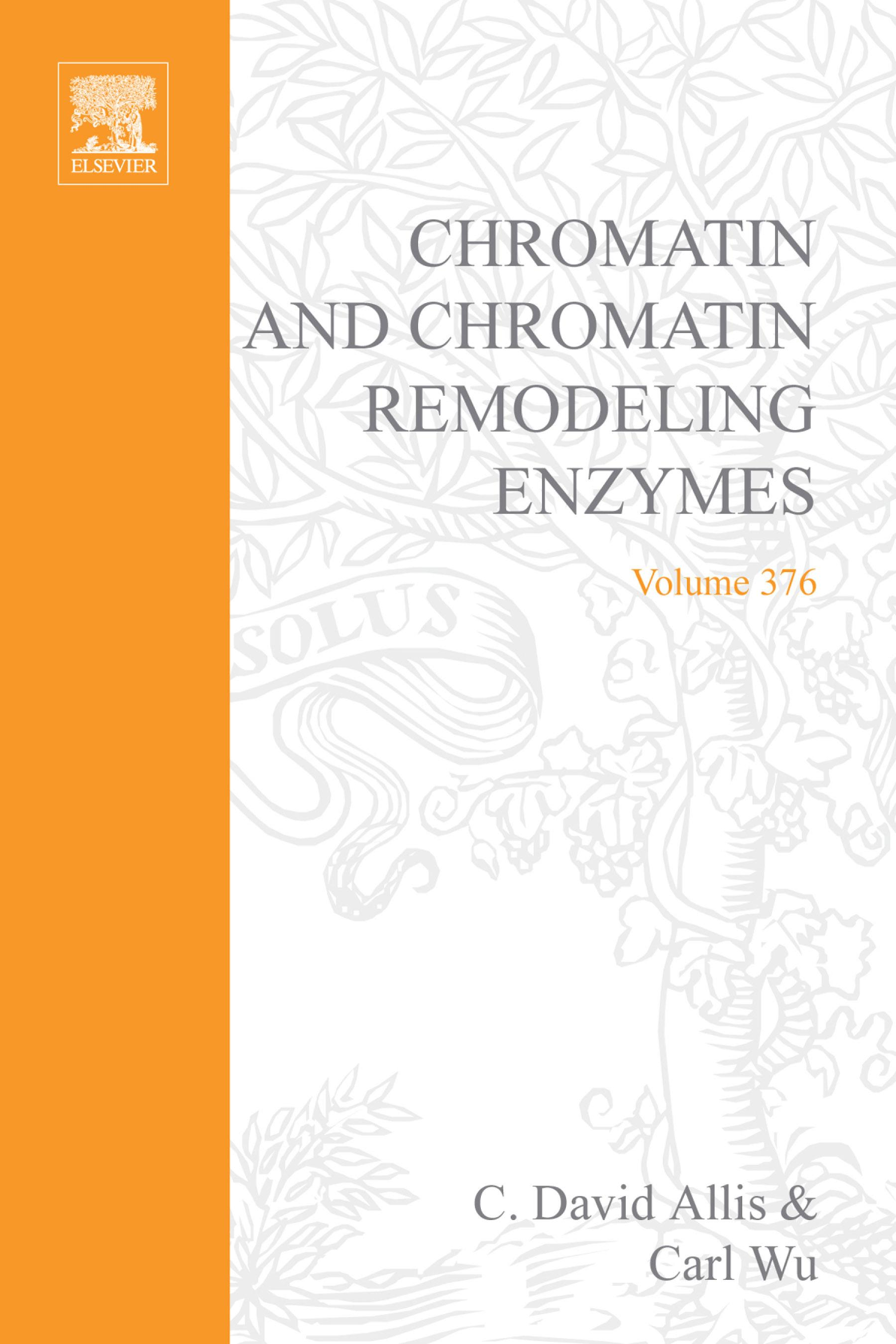 Chromatin and Chromatin Remodeling Enzymes, Part B EB9780080497143