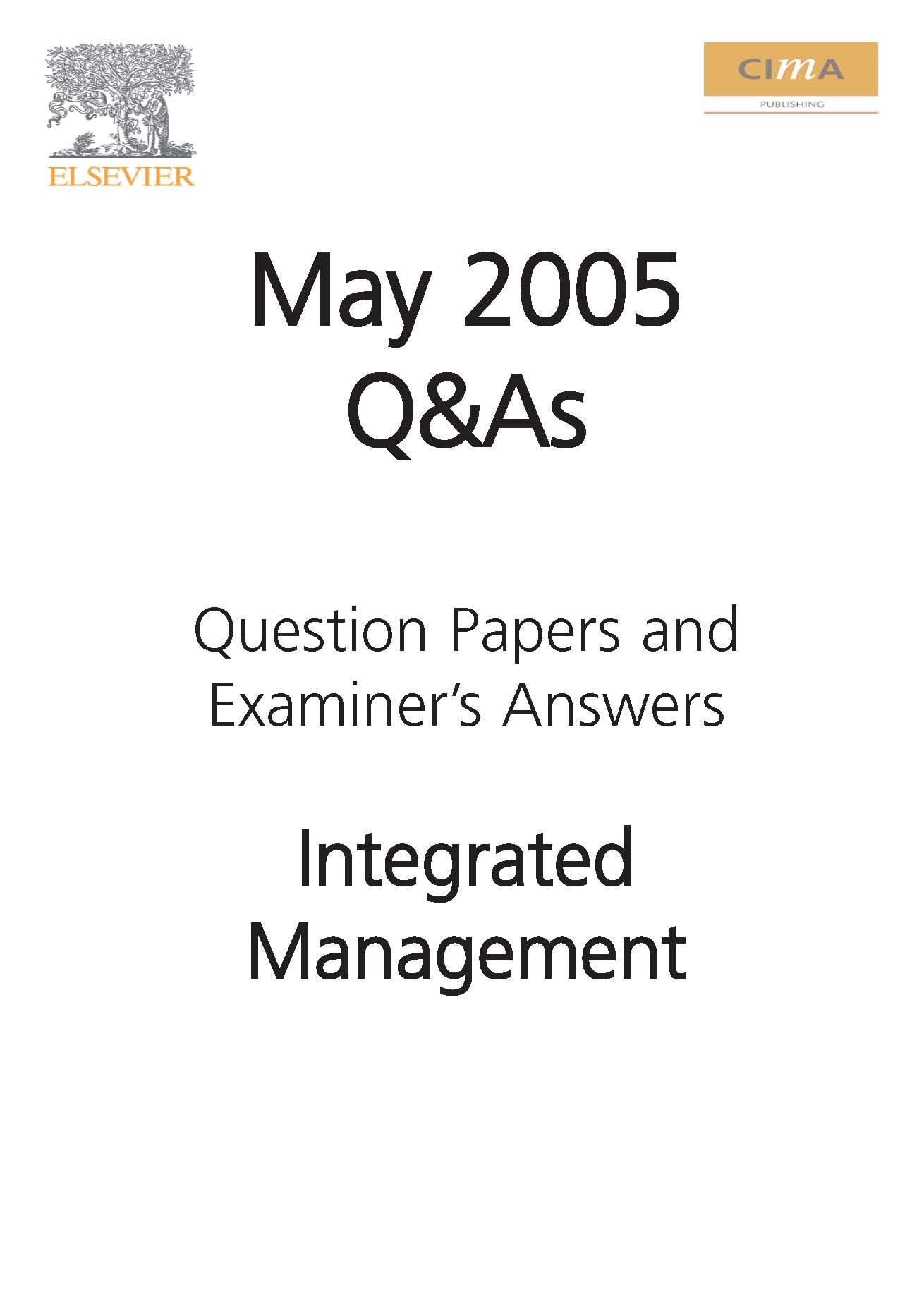 Cima May 05 Q&A Integrated Management EB9780750669092