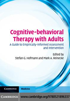 Cognitive-behavioral Therapy with Adults EB9780511904356