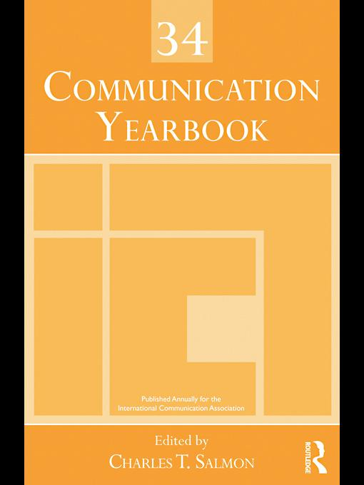 Communication Yearbook 34 EB9780203846278