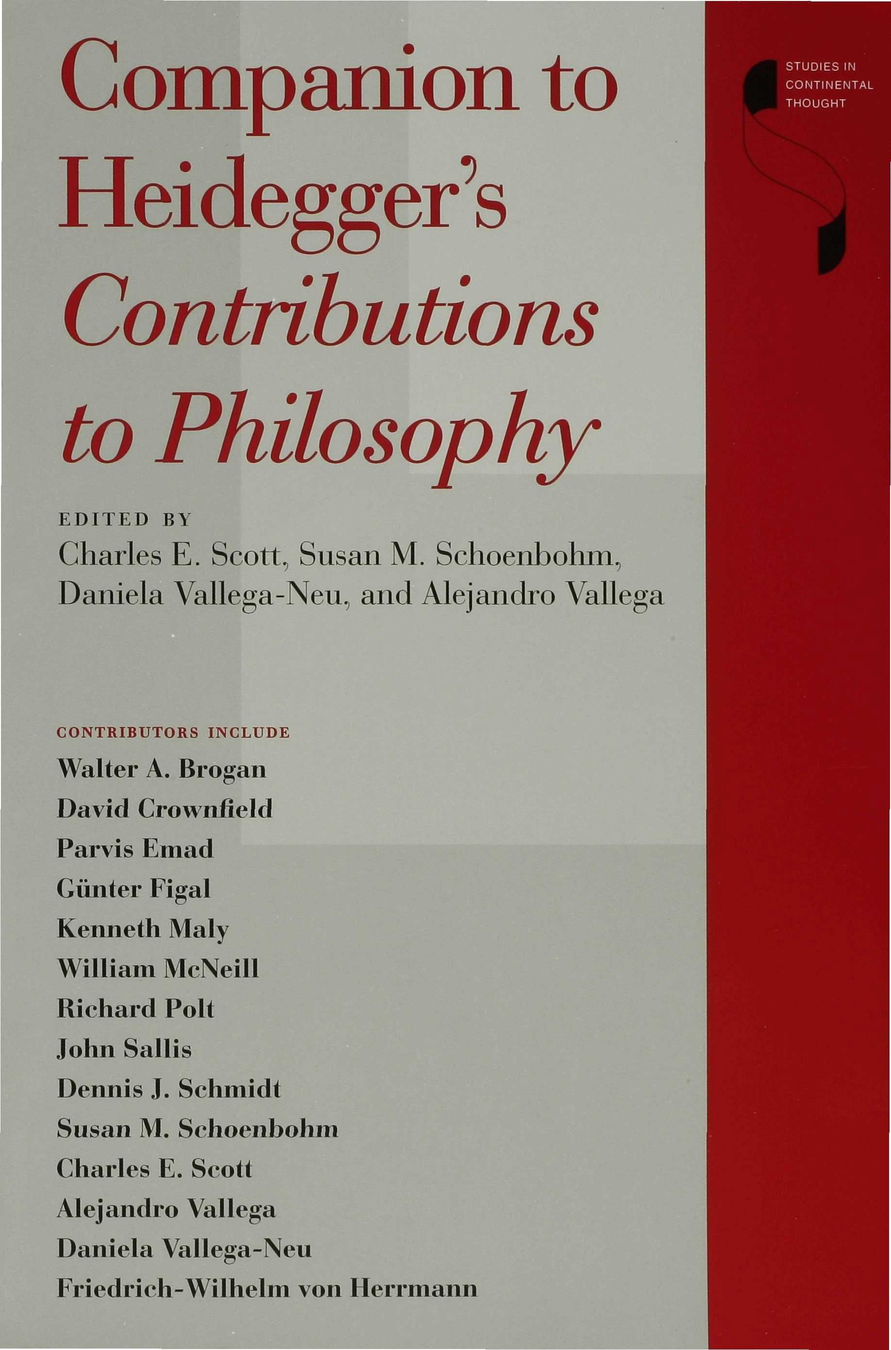 Companion to Heidegger's Contributions to Philosophy EB9780253108395