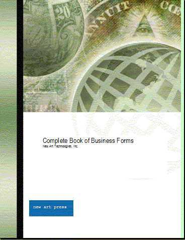 Complete Book of Business Forms EB9780974956671