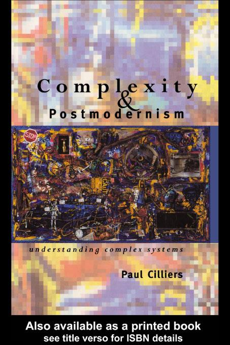 Complexity and Postmodernism EB9780203174579