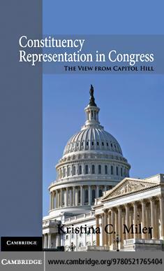 Constituency Representation in Congress EB9780511904455