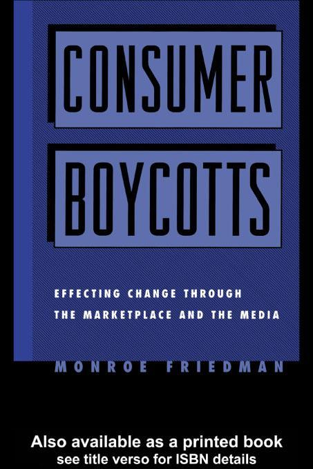 Consumer Boycotts EB9780203900444