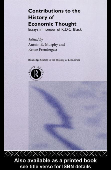 Contributions to the History of Economic Thought EB9780203183991