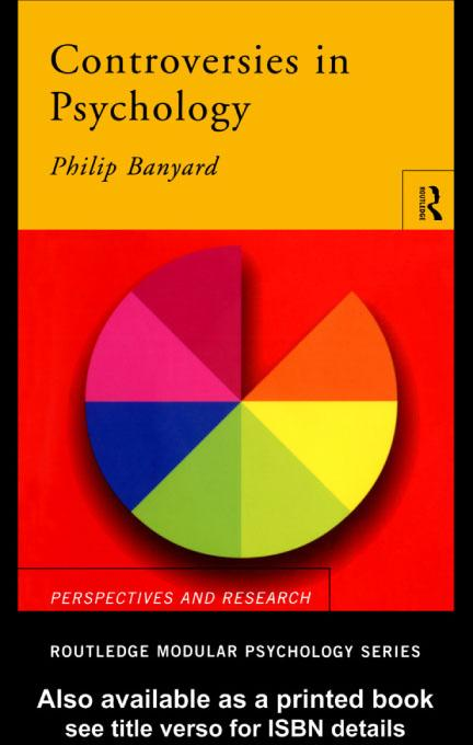 Controversies in Psychology EB9780203135389