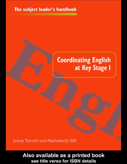 Coordinating English at Key Stage 1 EB9780203177020