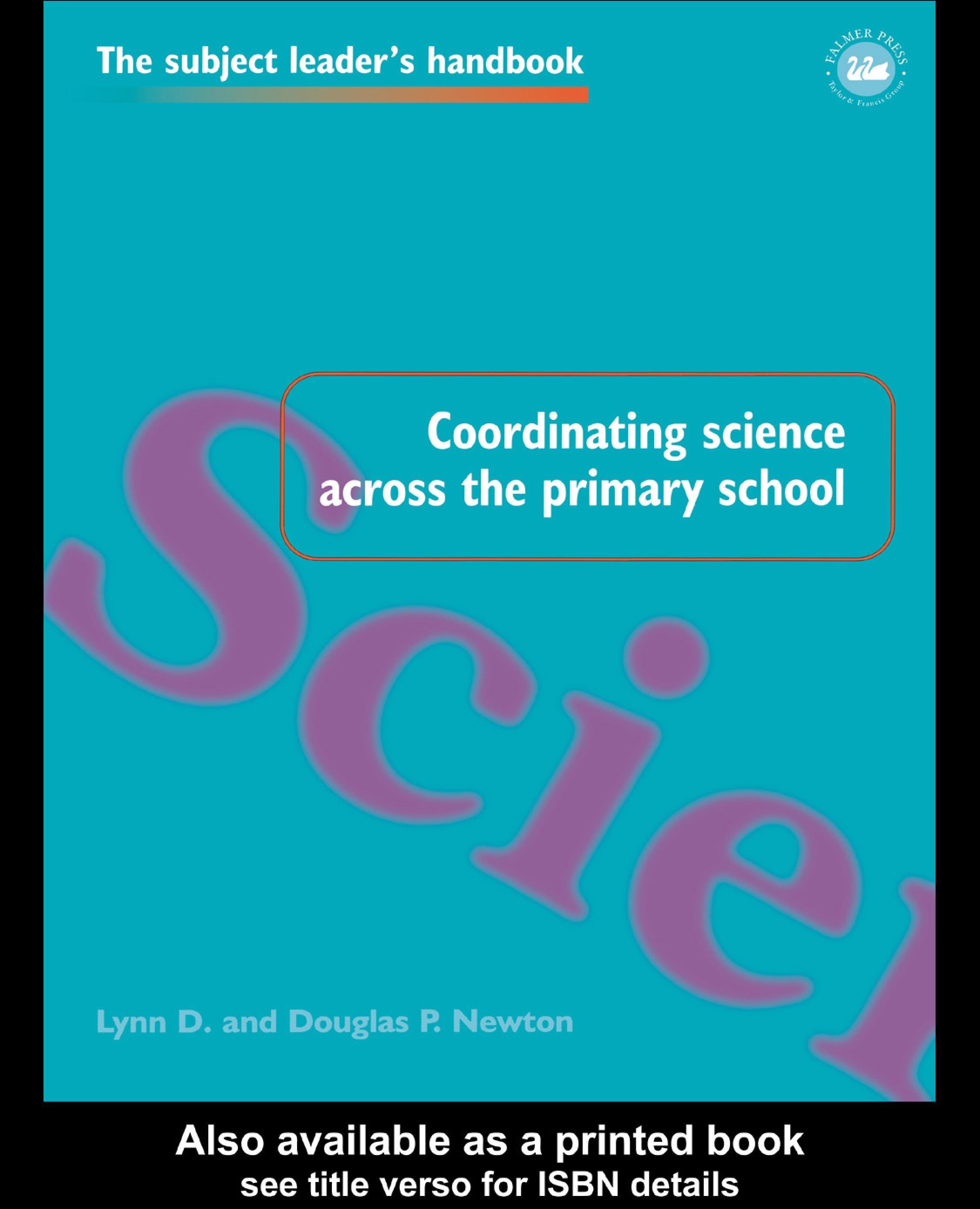 Coordinating Science Across the Primary School EB9780203486474