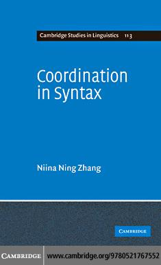 Coordination in Syntax EB9780511763854