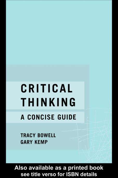Critical Thinking EB9780203193785