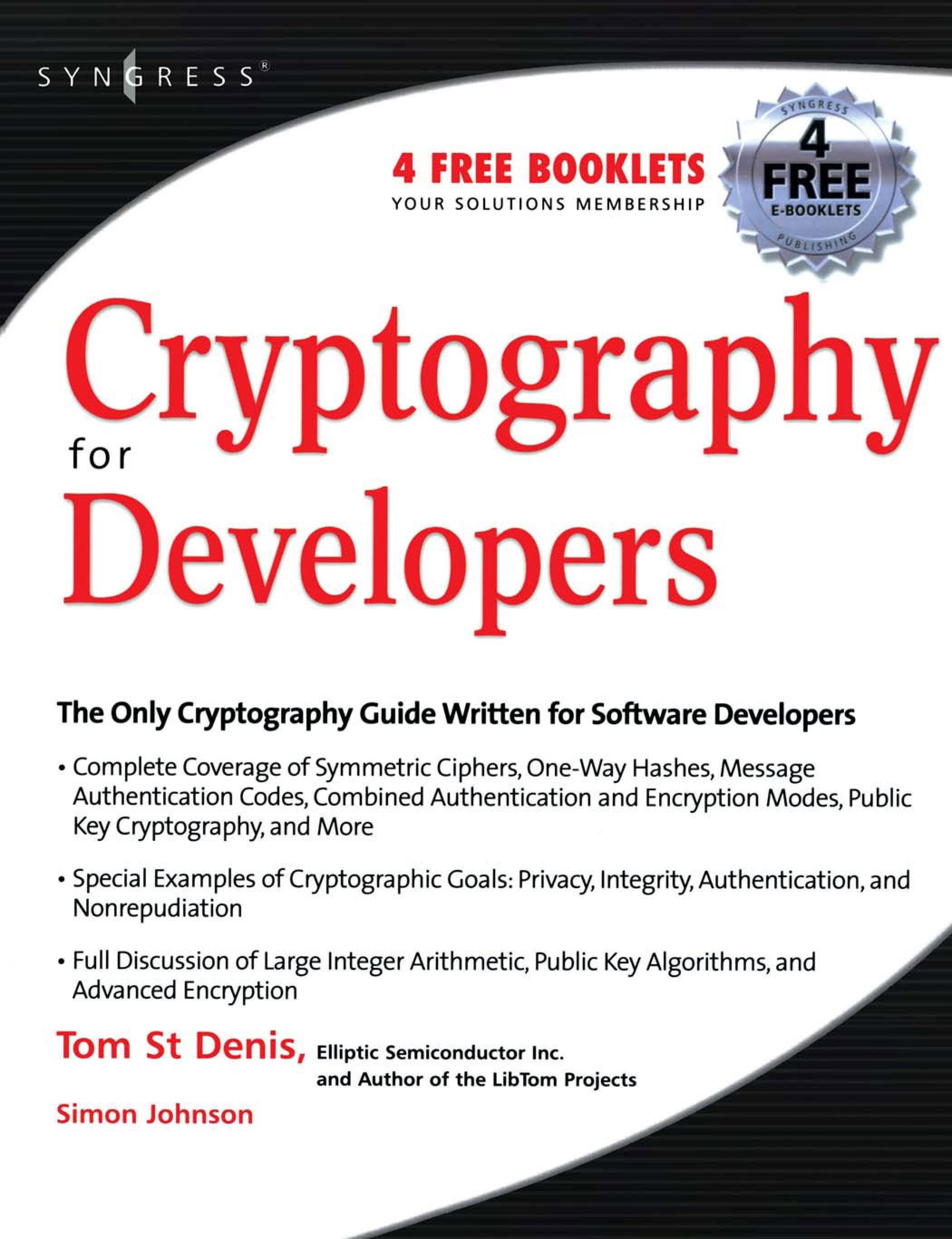 Cryptography for Developers EB9780080503455