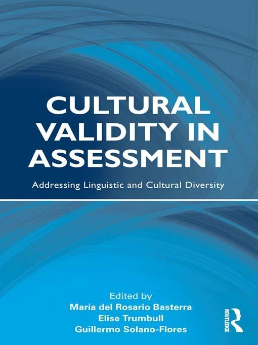 Cultural Validity in Assessment EB9780203850954