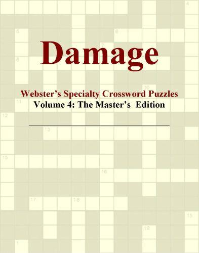 Damage - Webster's Specialty Crossword Puzzles, Volume 4: The Master's  Edition EB9780546424904