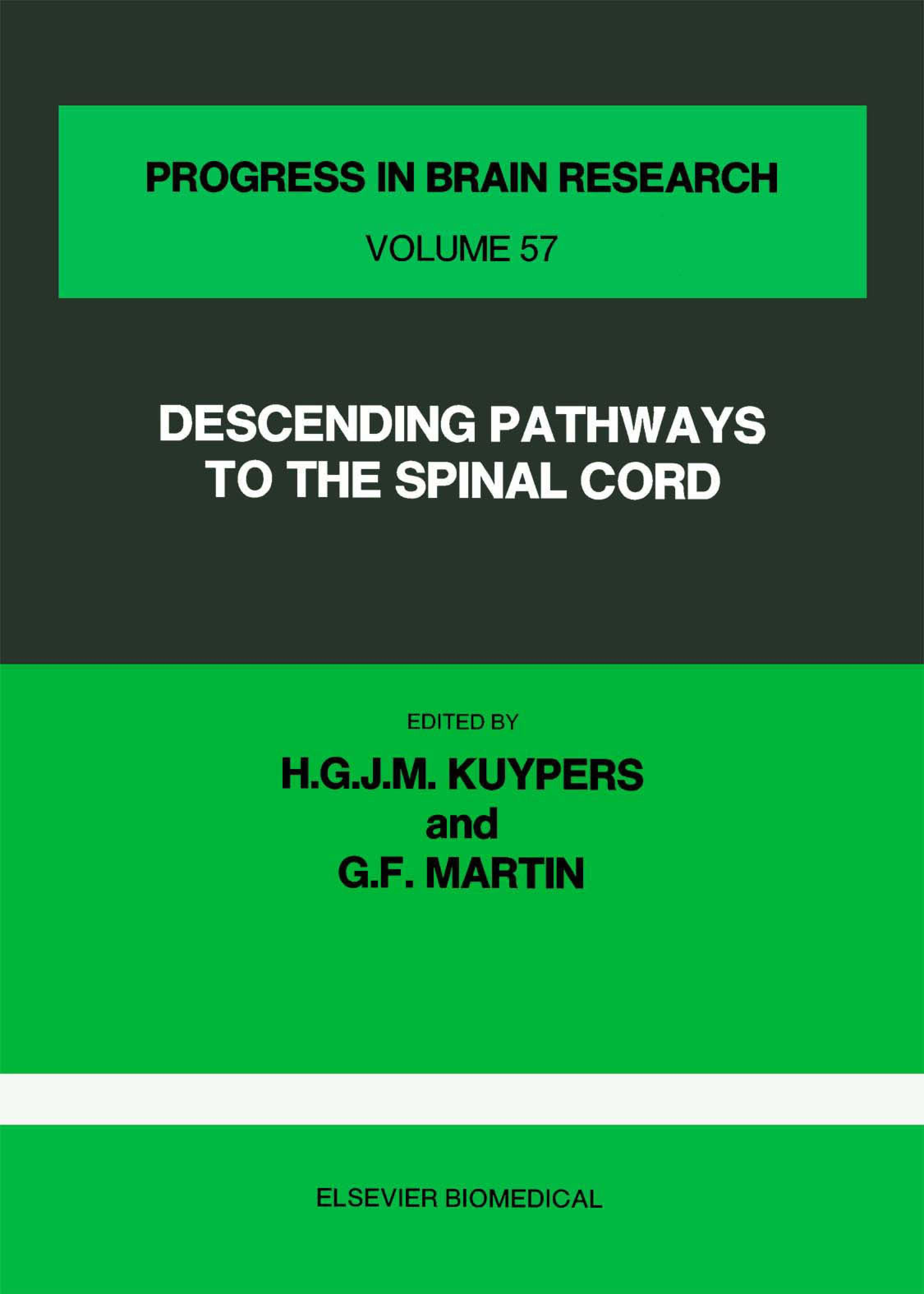 Descending Pathways to the Spinal Cord EB9780080861821