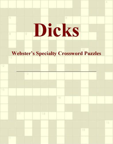 Dicks - Webster's Specialty Crossword Puzzles EB9780546425253